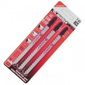 Ножове за прободен трион за дърво, 3 бр., 75 х 2,5 mm