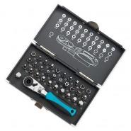 Комплект битове и магнитен адаптер от 33 части в пластмасова кутия
