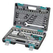 Комплектите инструменти от 82 части в подсилен куфар